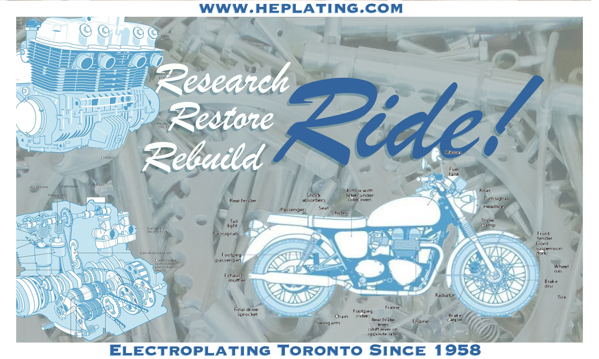 small electroplating orders for bike motorcycle automotive restorations